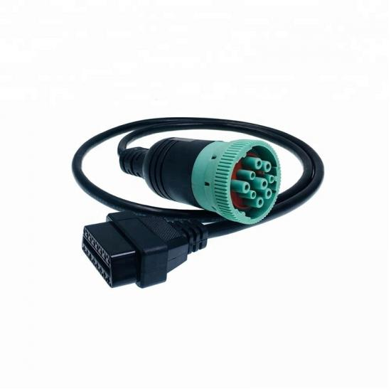 Auto J1939 9PIN to OBD2 DB9 Cable supplier
